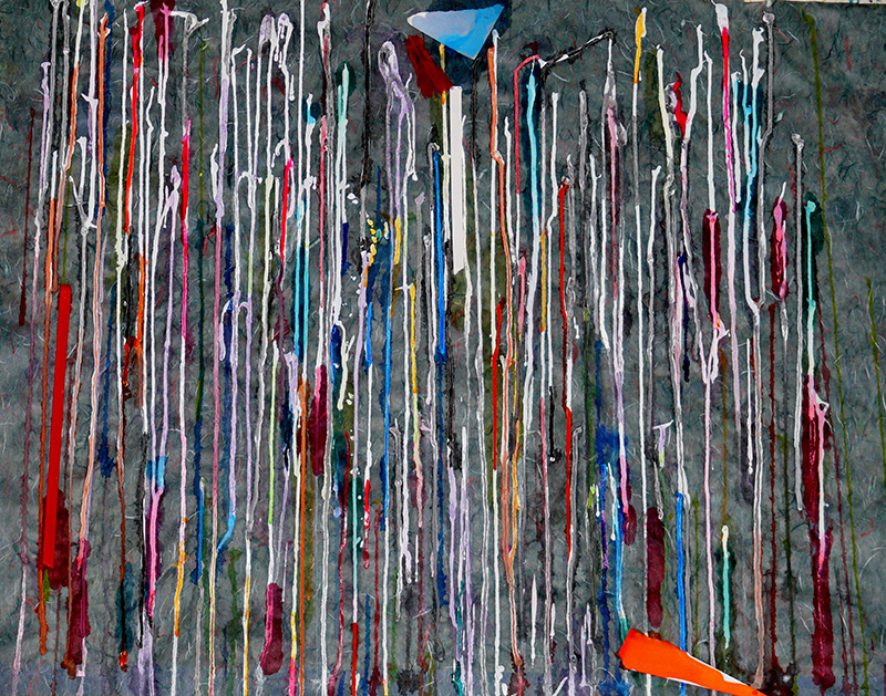 Wilbur M Reeling Abstract Artist, Cornichon Drips Metaphor, 2018, detail #12