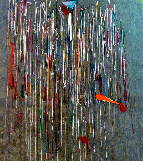 Wilbur M Reeling Abstract Artist, Cornichon Drips Metaphor, 2018, detail #8