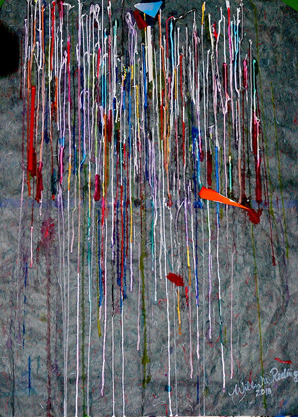 Wilbur M Reeling Abstract Artist, Cornichon Drips Metaphor, 2018