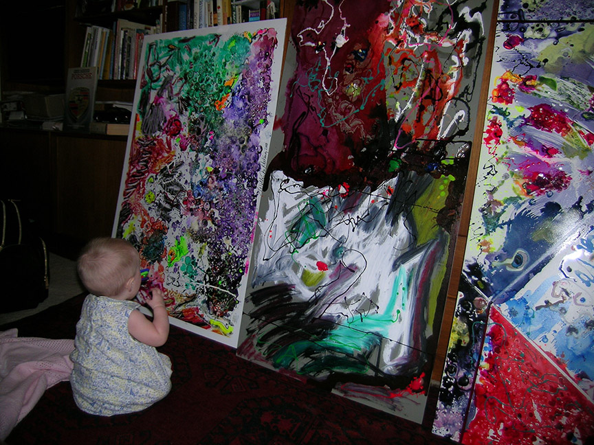 Baby with Art