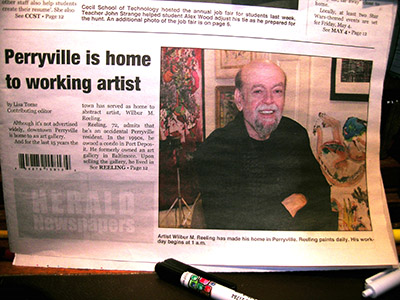 Wilbur M Reeling Abstract Artist, In the News Herald - page 1 - May 2018